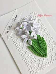 Tarjetas Diy Quilling Cards, Paper Quilling Flowers, Quilling Craft, Quilling Designs, Paper Art Projects, Paper Crafts, Adult Crafts, Diy And Crafts, Quilling Animals