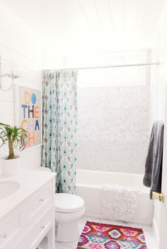 Colorful Bathroom With Timeless Accents