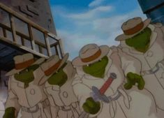 """""""What? No way…those guys with the reptilian skin in trench coats were actually giant turtles trained in martial arts? Who would've guessed?"""""""