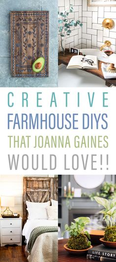 Creative Farmhouse DIYS that Joanna Gaines Would Love!