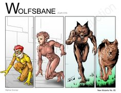 Wolfsbane - Transformation (Marvel Comics) New Mutants by Nickolas Lane
