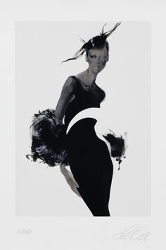 Artist David Downton's beautiful Vogue Versace illustration for Art in Fashion (Vogue.com UK)