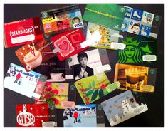 Collecting Starbucks cards.