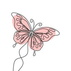Simple Butterfly Continuous Line Drawing Vector Illustration Minimalist Design PNG and Vector Butterfly Line Drawing, Butterfly Logo, Butterfly Illustration, Simple Illustration, Design Illustrations, Continuous Line Drawing, Single Line Drawing, Minimalist Drawing, Minimalist Design