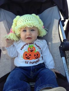 Cabbage Patch Kid Ispired Crochet Wig Hat size 0-3mo | spoiledrottencotton - Crochet on ArtFire