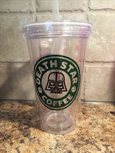 Darth Vader Starbucks cup - cut on a Cricut