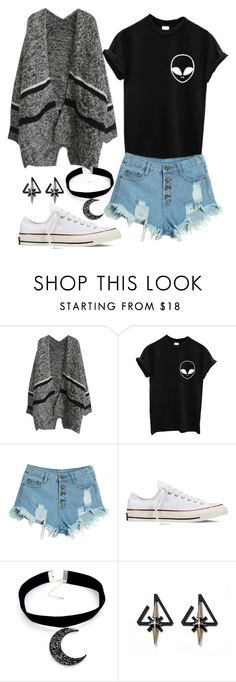 """Casual"" by chap15906248 ❤ liked on Polyvore featuring WithChic, Converse, women's clothing, women's fashion, women, female, woman, misses and juniors"