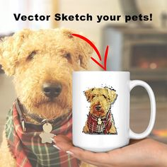 Custom Pet Mug | Turn your pet into a drawing | Personalized Gift | Cartoon Sketch | Gift For Dog Lovers | Gift For Cat Lovers | Pet owners Lovers Gift, Cat Lover Gifts, Cat Gifts, Cat Lovers, Cartoon Sketches, Art Sketches, Cat Drawing, High Gloss, Your Pet