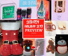 Coming Soon, Scentsy Christmas and Holiday Warmer 2017 Collection This is just a Sneak Peek of what is to come, you will be able to see the whole collection by Mid-September! From Top Left to Bottom Right: Holiday Oils Gift Set of 3, Stargaze Diffuser Shade, Adorn Scentsy Nightlight Mini Warmer, Gingerbread Man Nightlight Scentsy Mini Warmer, Wildlife Scentsy Nightlight Mini Warmer, Down the Chimney (Boots) Scentsy Warmer, Holiday Lights Scentsy Nightlight Mini Warmer, Winter Stag Scentsy…