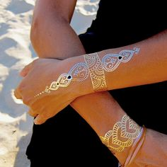Hey, I found this really awesome Etsy listing at https://www.etsy.com/listing/212404570/temporary-metallic-tattoos-gold-jewelry