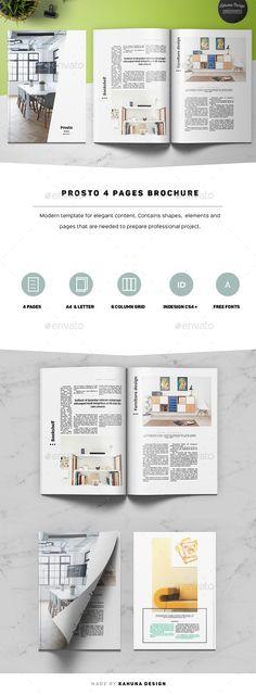Prosto 4p Brochure - #Informational #Brochures Download here: https://graphicriver.net/item/prosto-4p-brochure/20125186?ref=alena994