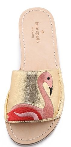 Cute gold flamingo shoes