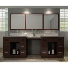 Ariel Roosevelt 97-inch Double Sink Vanity Set in