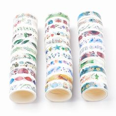 Washi Tape Full Rolls, 3 Roll Surprise Pack, Journal Masking Tape, Paper Craft Junk Journal Supplies, Butterfly Washi, Flower Craft Tape by Dare2beUNIQUE on Etsy Masking Tape, Washi Tape, Scrapbook Supplies, Craft Supplies, Rug Hooking Patterns, Rainbow Glass, Tape Crafts, Flower Crafts, Handmade Wooden