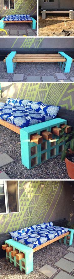 diy moebel wohnideen seoeber machen blauer sofa aus holz