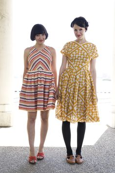 love this yellow dress, and pretty much everything else she wears, in her blog.
