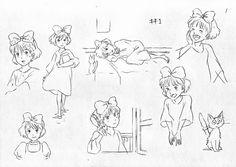 Majyo no Takkyubin / Kiki's Delivery Service CHARACTER DESIGN