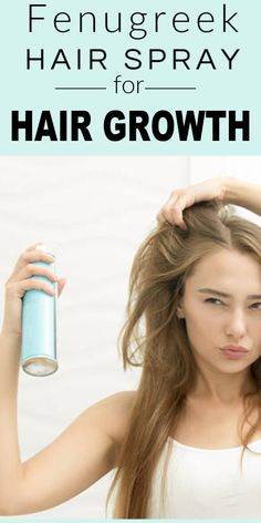 Fenugreek Hair Spray For Smooth Shiny And Faster Hair Growth #haircare #hairgrowth #diyhair #shinyhair #beautytips #homeremedies #fenugreek