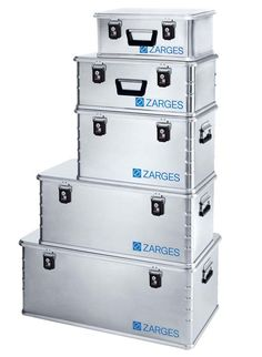 ZARGES Aluminium Boxes – For high end storage or tough expeditions. Made in Germany.
