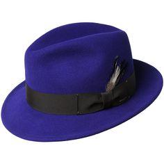 Bailey of Hollywood Blixen Fedora - Blue Men Suit Fashion, Mens Fashion, Fashion Hats, Fashion Scarves, Gents Hats, Vintage Fashion 1950s, Vintage Hats, Victorian Fashion, Fadora Hats