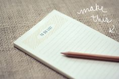 wit & whistle's to do list notepad DIY