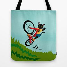 Bike Action Tote Bag by BATKEI