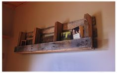pallet shelf...sooooo many to chose from @ work!...holla ...next project!