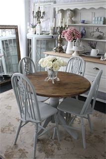 grey kitchen table and chairs paul mccobb chair annie sloan paris chalkpaint refinished pinterest dining furniture room