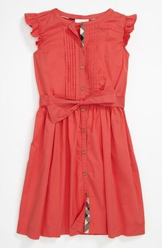 Burberry 'Estella' Dress ( Big Girls) available at #Nordstrom- Carmina wants this dress but I would have to splurge on it.