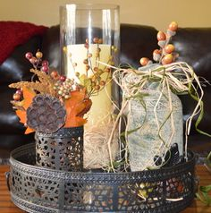 Fall inspired Trayscape. Easy to put together.