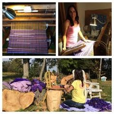 Weaving, a passion of Jenny Runde.