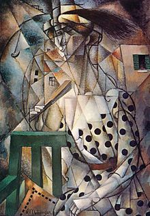 Jean Metzinger, 1912-13, Femme à l'Éventail (Woman with a Fan), oil on canvas, 90.7 x 64.2 cm. Exhibited at the Salon d'Automne, 1912, Paris, and De Moderne Kunstkring, 1912, Amsterdam. Published in Les Peintres Cubistes, by Guillaume Apollinaire, 1913