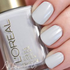 Still looking for a subtle white. Maybe this one? L'Oreal Aux Chandelles swatch via @alllacqueredup