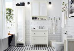 Black And White Bathroom Puertas Ikea, Decorar Baños, Azulejos Para Baños  Pequeños, Muebles