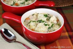 Chicken and Dumplings are the #ChickenSoupforthesoul Day!  | Our Best Bites