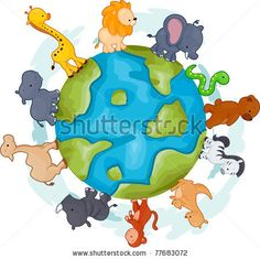 Cartoon Animal Walking Stock Photos, Images, & Pictures | Shutterstock