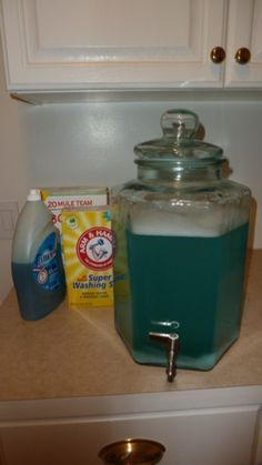 $.03 to $.05 per load, really does gets laundry clean, low-sudsing, works with high-efficiency (HE) washers, no cooking, easy/quick to make, uses Dawn instead of Fels Naptha. You're gonna like this. A Little Update On My Favorite Laundry Detergent - homemade laundry soap