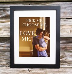 Greys Anatomy quote Pick Me Choose Me Love by KacklesDesginShoppe