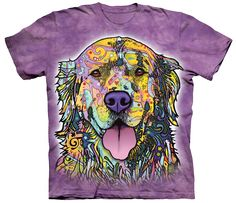 "Is Your Golden Retriever Colorful? Then This shirt is for you! NOTE: A donation will be made to Golden Retriever Rescue with each sale. *** THESE are ""One of a"