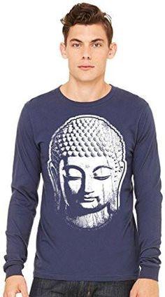 Mens BIG BUDDHA HEAD Long Sleeve Tee