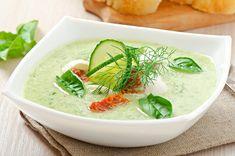 Esta sopa de pepino para los amantes de los vegetales.