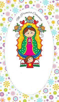 estampita Virgencita porfis: