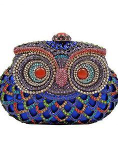 Blue Owl Clutch bag #Blue #Owl #Clutch #bag