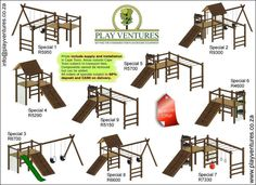 BESTQUALITY WOODEN JUNGLE GYMS SUPPLIED AND INSTALLED Bought to you by PLAY VENTURE. Setting the standards for playground equipment Visitour website at http://www.playventures.co.zaWemanufacture and install commercial and residential play units. PRICESSHOWN INCLUDES SUPPLY AND INSTALLATION IN CAPE TOWN We also manufacture wooden furniture : wooden table and benches, servers, plasma stands, coffee tables, etc.ContactPlay Ventures during office hours on 021 558 3668 or mail us office…
