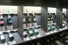 Dilettantes, aménagement cave à champagne, Julien Kolmont de Rogier, design de boutiques Paris