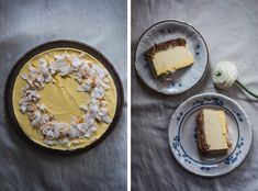 Raw mangový cheesecake | Děvče u plotny Hummus, Camembert Cheese, Cheesecake, Ethnic Recipes, Food, Cheesecakes, Essen, Meals, Yemek