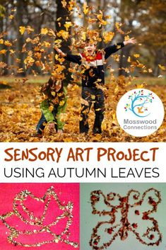Sensory Autumn Leaf Craft Project for Kids, Fall Arts And Crafts, Easy Fall Crafts, Fall Crafts For Kids, Art For Kids, Kids Crafts, Autumn Leaves Craft, Autumn Art, Autumn Theme, Autumn Ideas