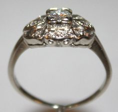 Most vintage rings are not big rocks but the settings are so beautiful.