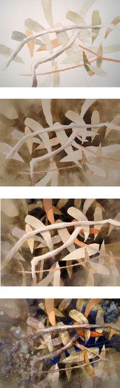 Jon Lovett demo on negative painting