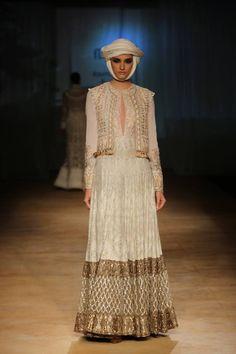 Rimple & Harpreet Narula at India Couture Week 2014 - ivory and gold lehnga